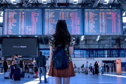 Der Systemausfall im Flughafenterminal - und die Flugverspätung